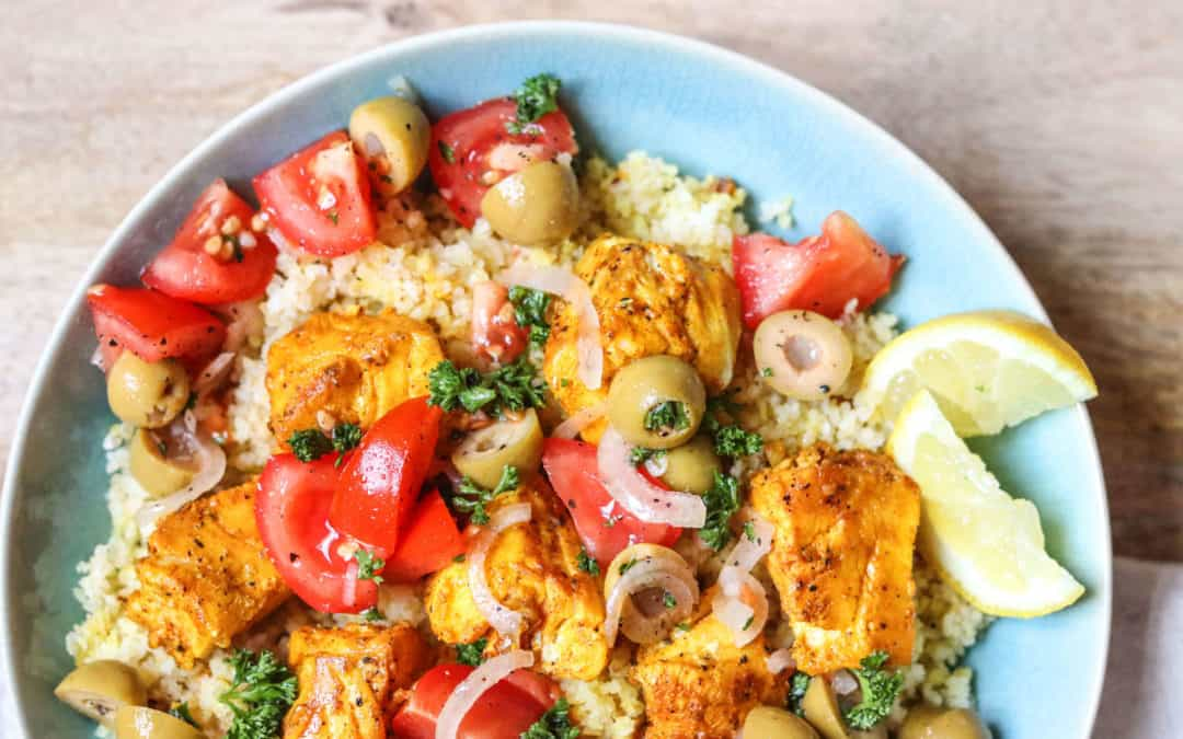 Moroccan Cod and Bulgar Salad