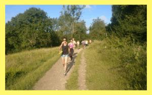 fitness group running
